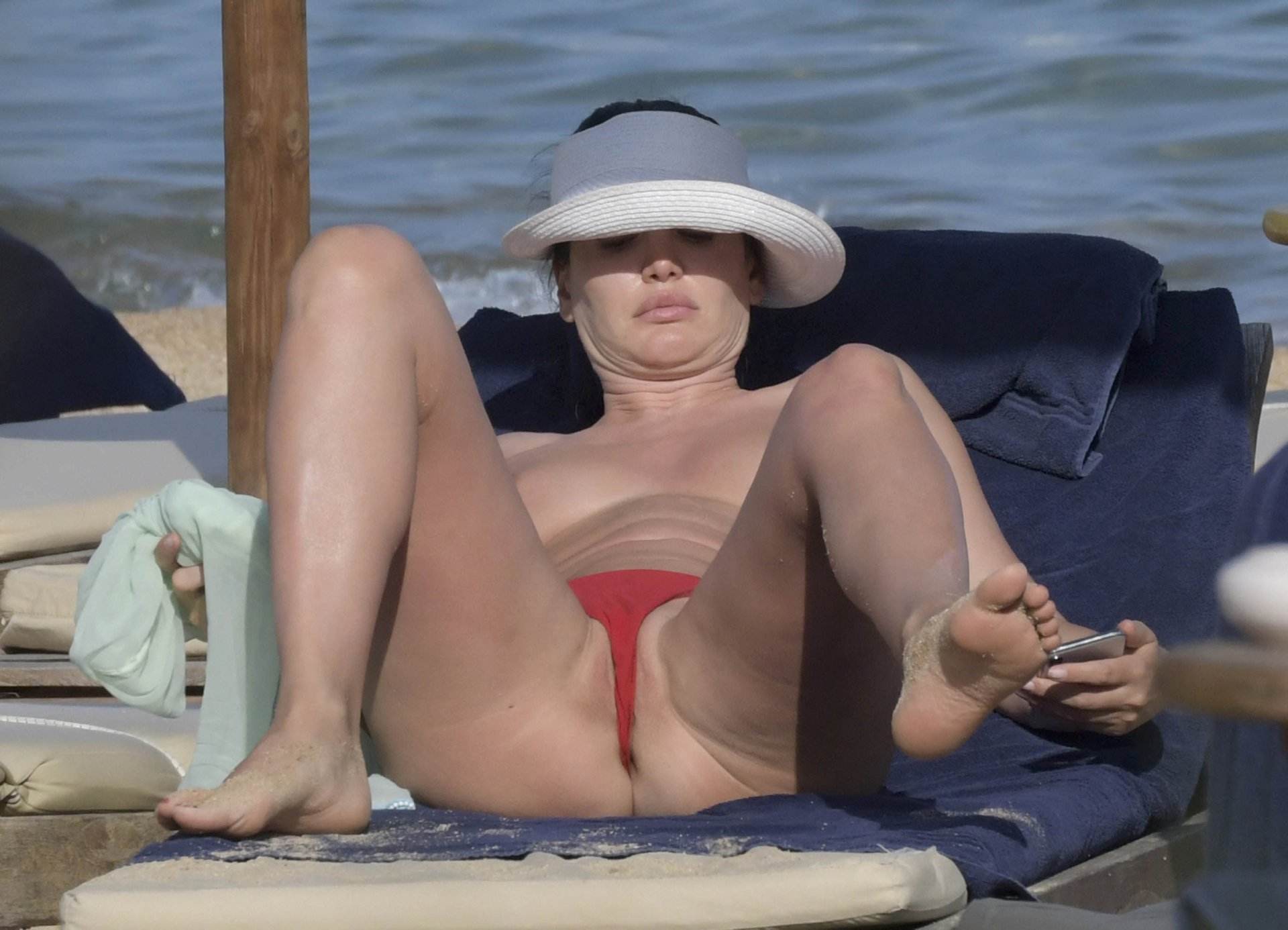 Bleona Qereti Topless on Beach in Italy 17