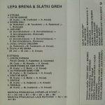 Lepa Brena (Fahreta Jahic Zivojinovic) - Diskografija  36647323_Kaseta_Zadnja